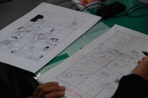 El editor compara el neemu (derecha) con la página finalizada (izquierda) (clic para ampliar)